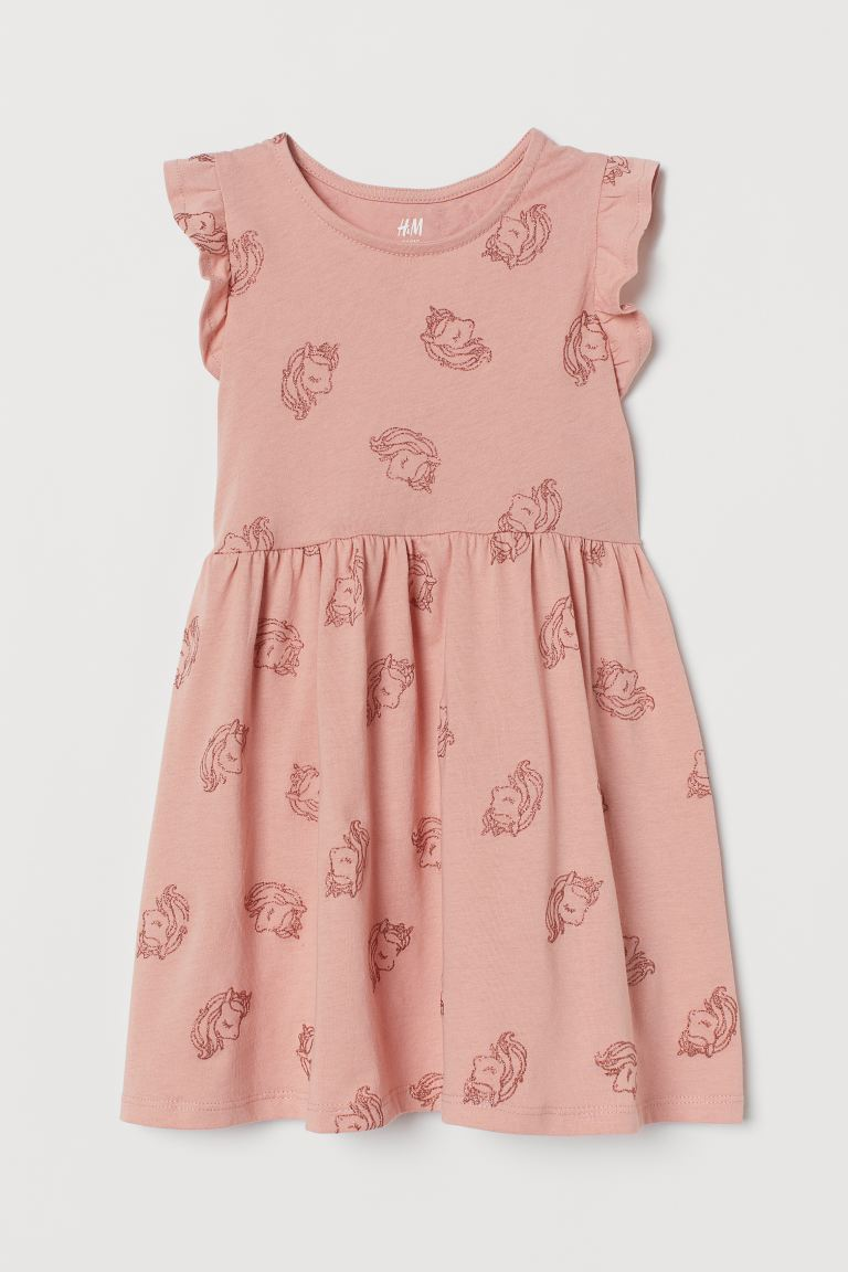 Jersey dress - Old rose/Unicorns - Kids | H&M GB