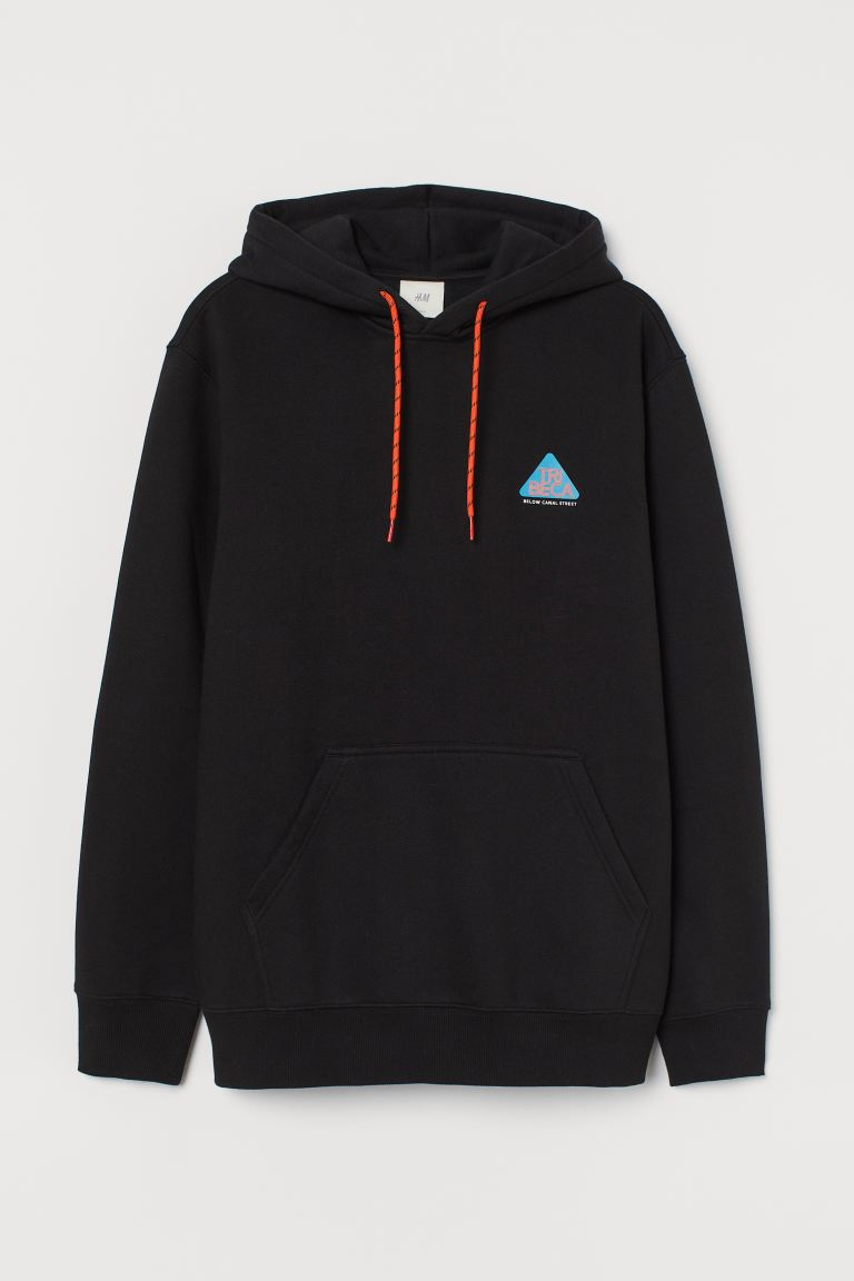 Printed Hoodie - Black Tribeca - Men | H&M CA