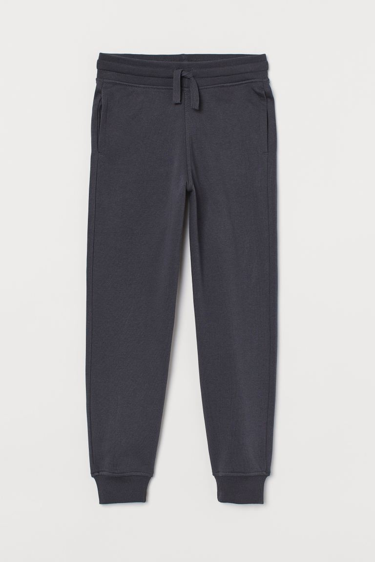 Cotton-blend joggers - Dark grey - Kids | H&M GB