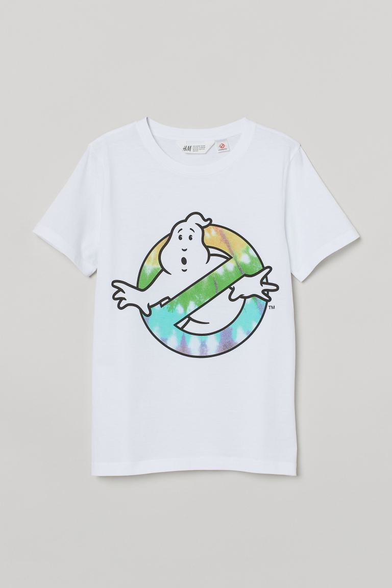 Printed T-shirt - White/Ghostbusters - Kids | H&M GB