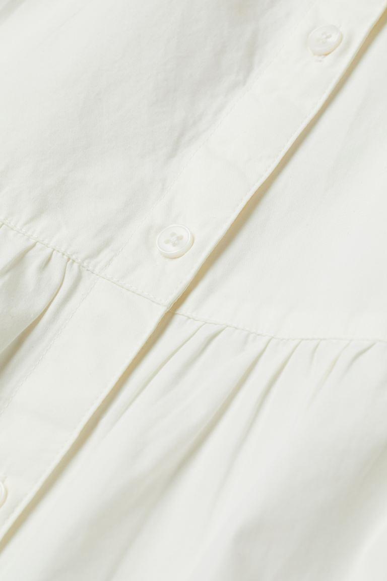 Cotton poplin dress   White   Ladies   H&M