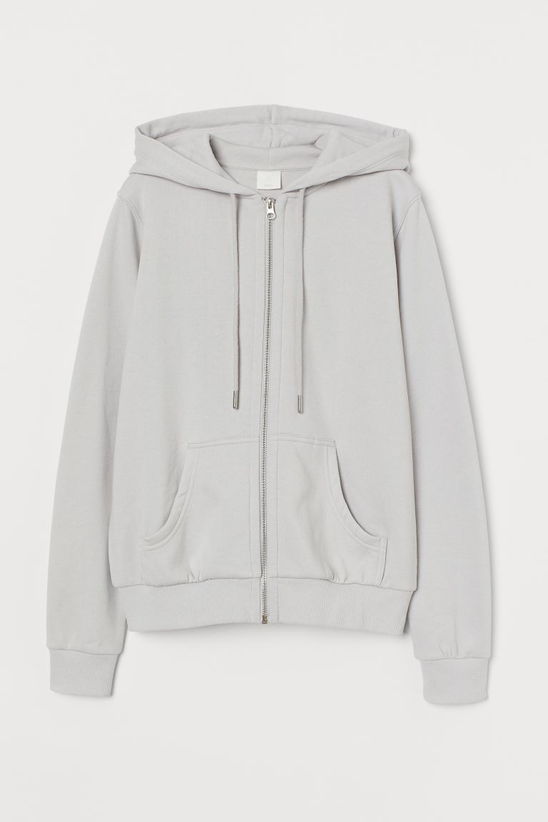 Hooded jacket - Light grey - Ladies | H&M