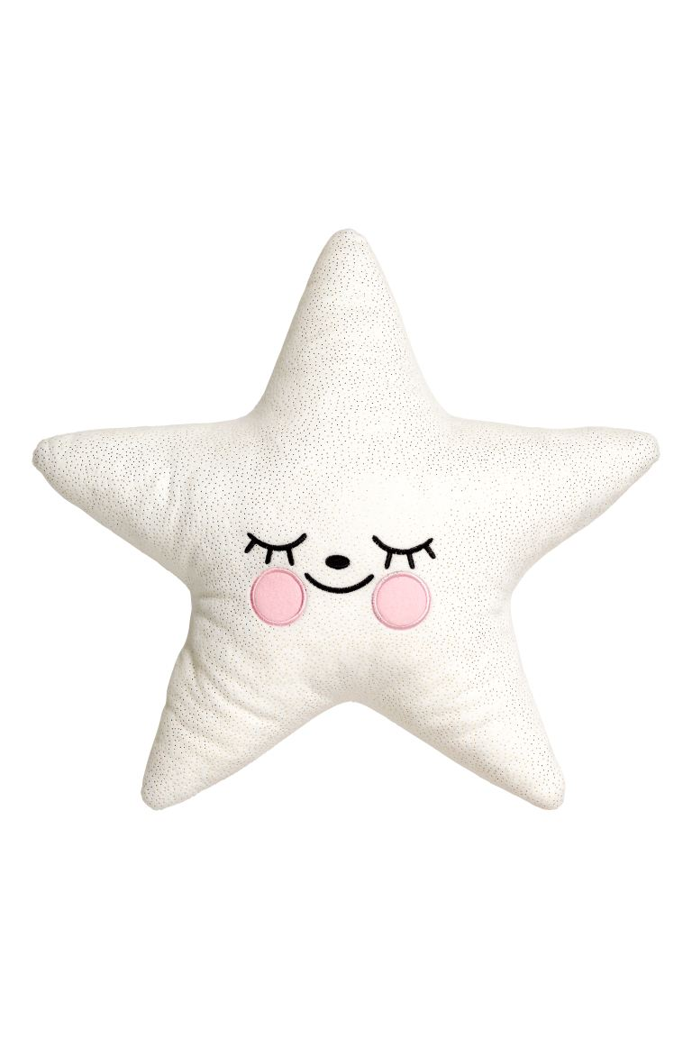 Velour Cushion - White/star - Home All | H&M CA