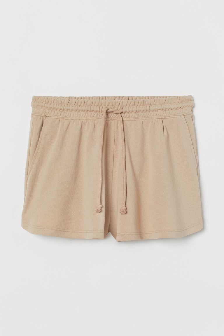 Sweatshorts High Waist - Beige - Ladies | H&M US