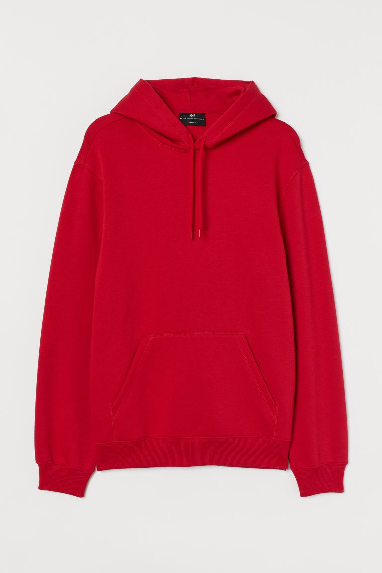 Relaxed Fit Hoodie - Red - Men | H&M