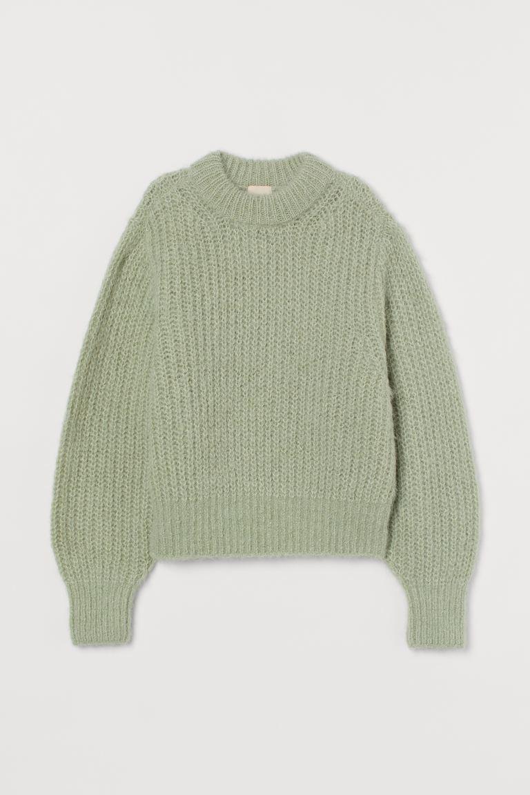 grön stickad tröja dam