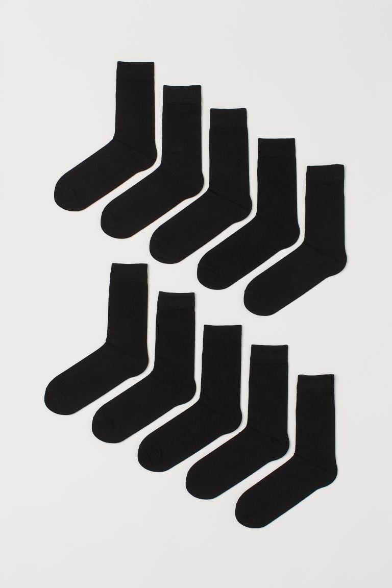 10-pack socks - Black - Men | H&M