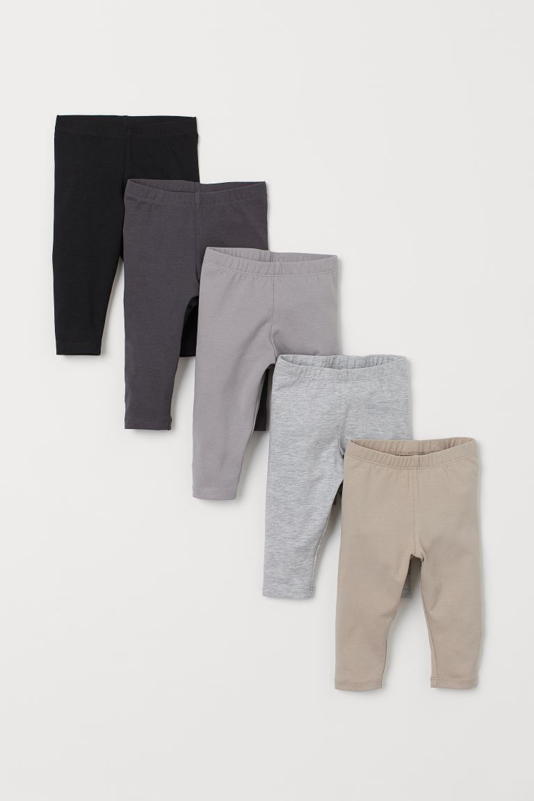 5-pack jersey leggings - Grey/Multicoloured - Kids | H&M IN