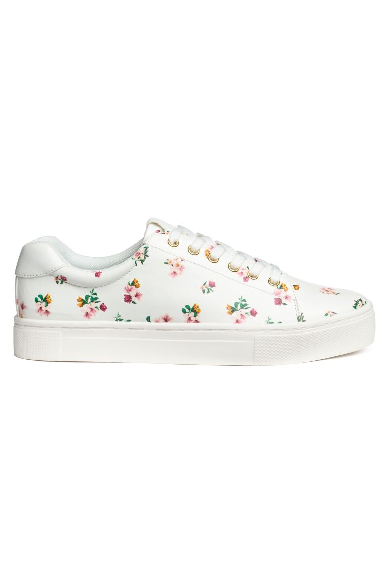 Trainers - White/Floral - Ladies | H&M GB