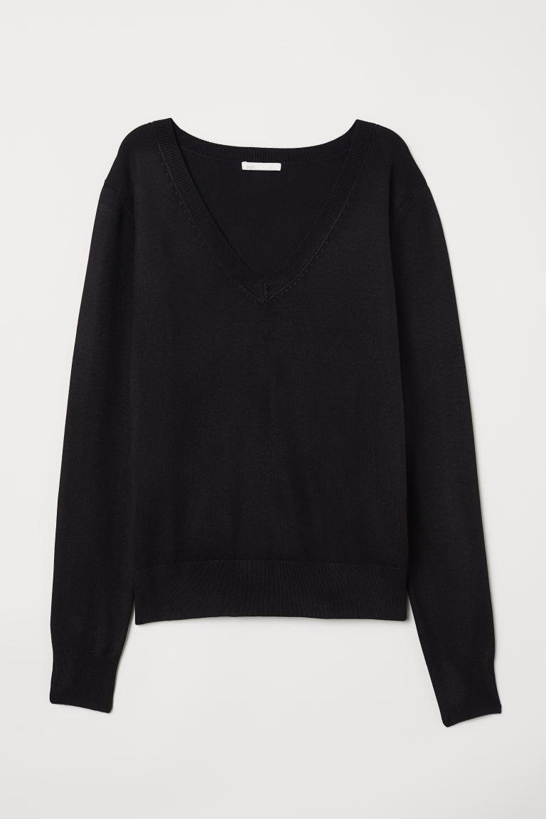 Aflojar Compadecerse gris  Suéter en punto fino - Negro - Ladies | H&M MX