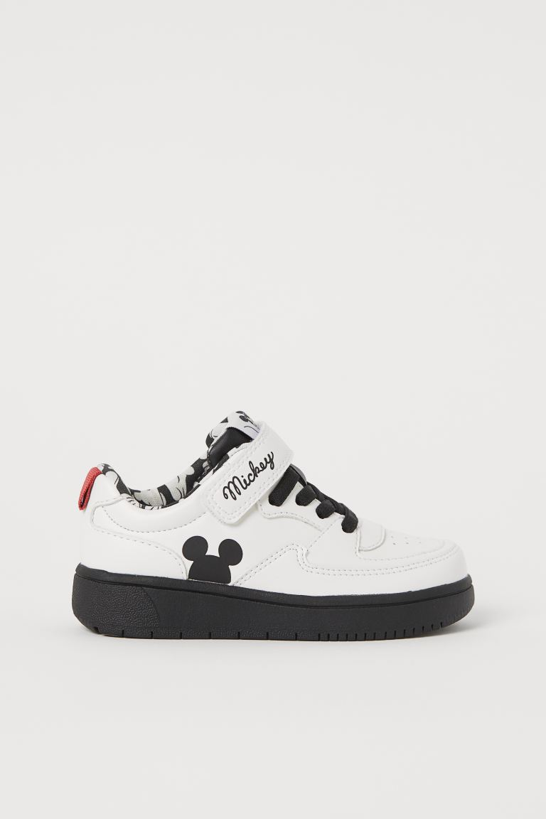 Motif-detail Sneakers - White/Mickey Mouse - Kids | H&M US