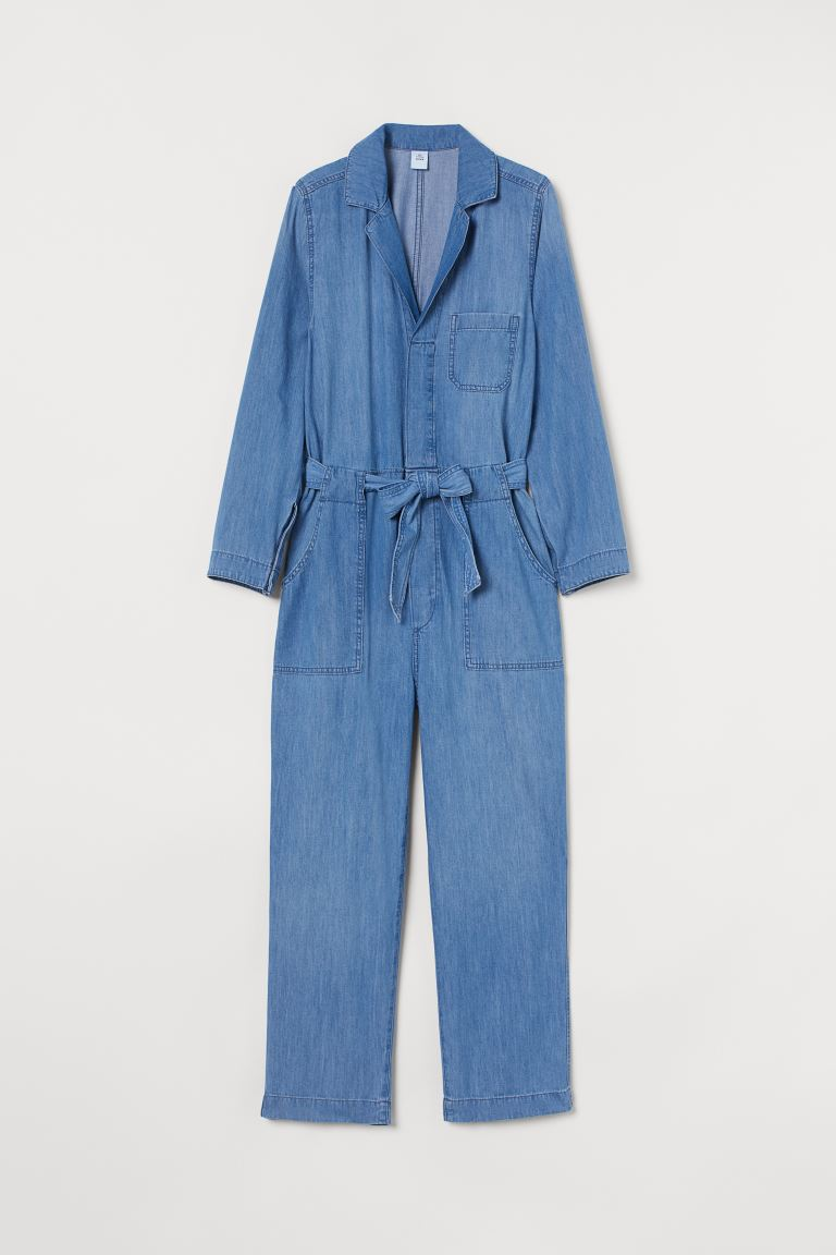 Denim boiler suit - Denim blue - Ladies | H&M IE