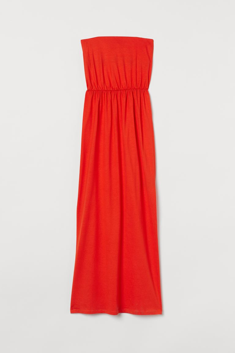 Maxi dress - Orange-red - Ladies | H&M IE
