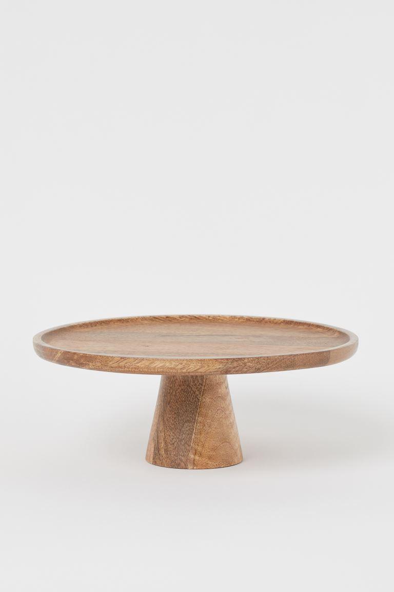 Plat à gâteau en bois - Marron - Home All | H&M FR