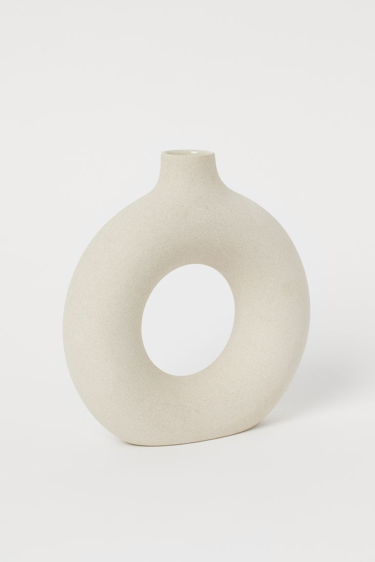 Ceramic Vase - Light beige - Home All | H&M US