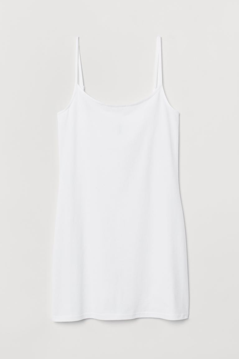 Long strappy top - White - Ladies | H&M