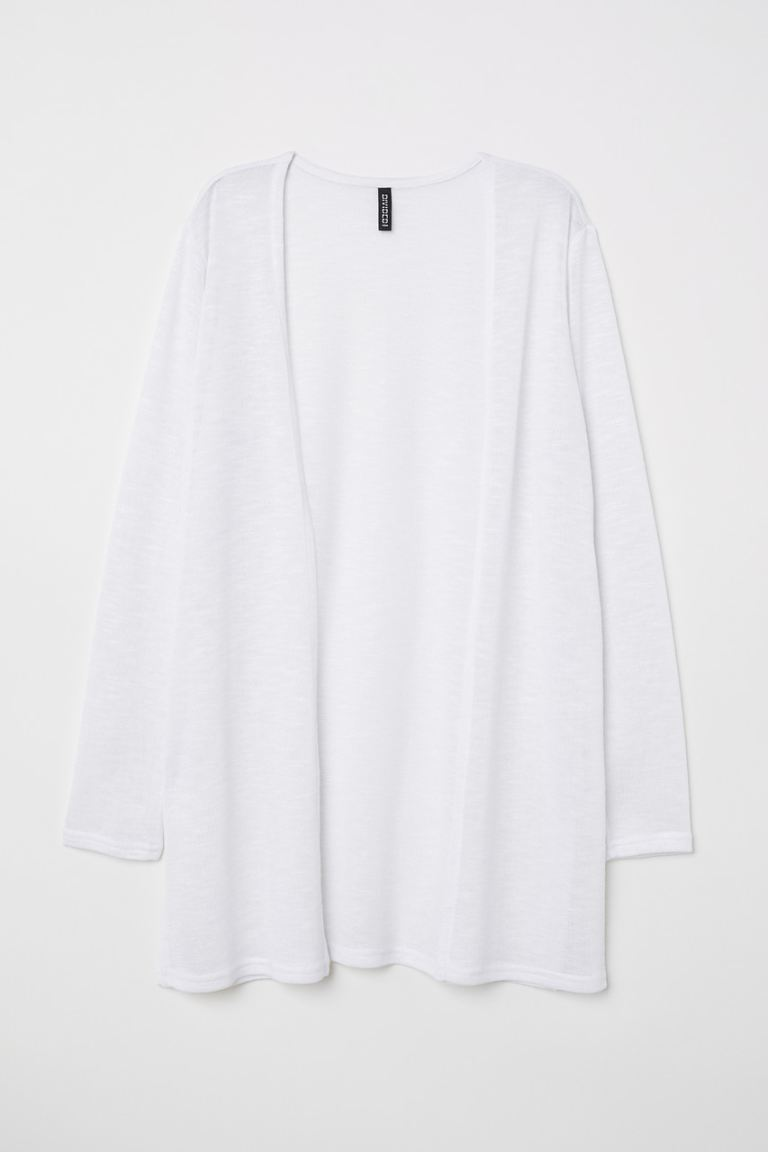 Fine-knit cardigan - White - Ladies | H&M GB