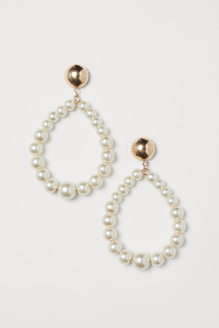 Earrings with Beads - Gold-colored - Ladies | H&M US