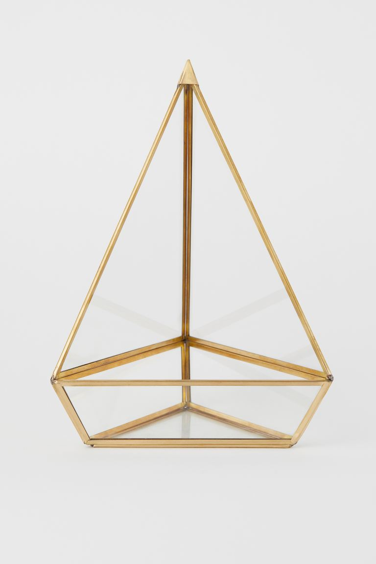 Terrarium - Gold-colored/clear glass - Home All | H&M US