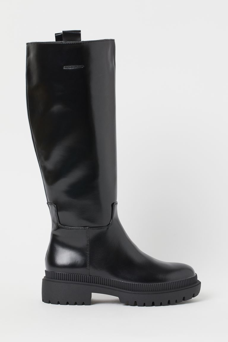 Chunky-soled boots - Black - Ladies | H&M GB