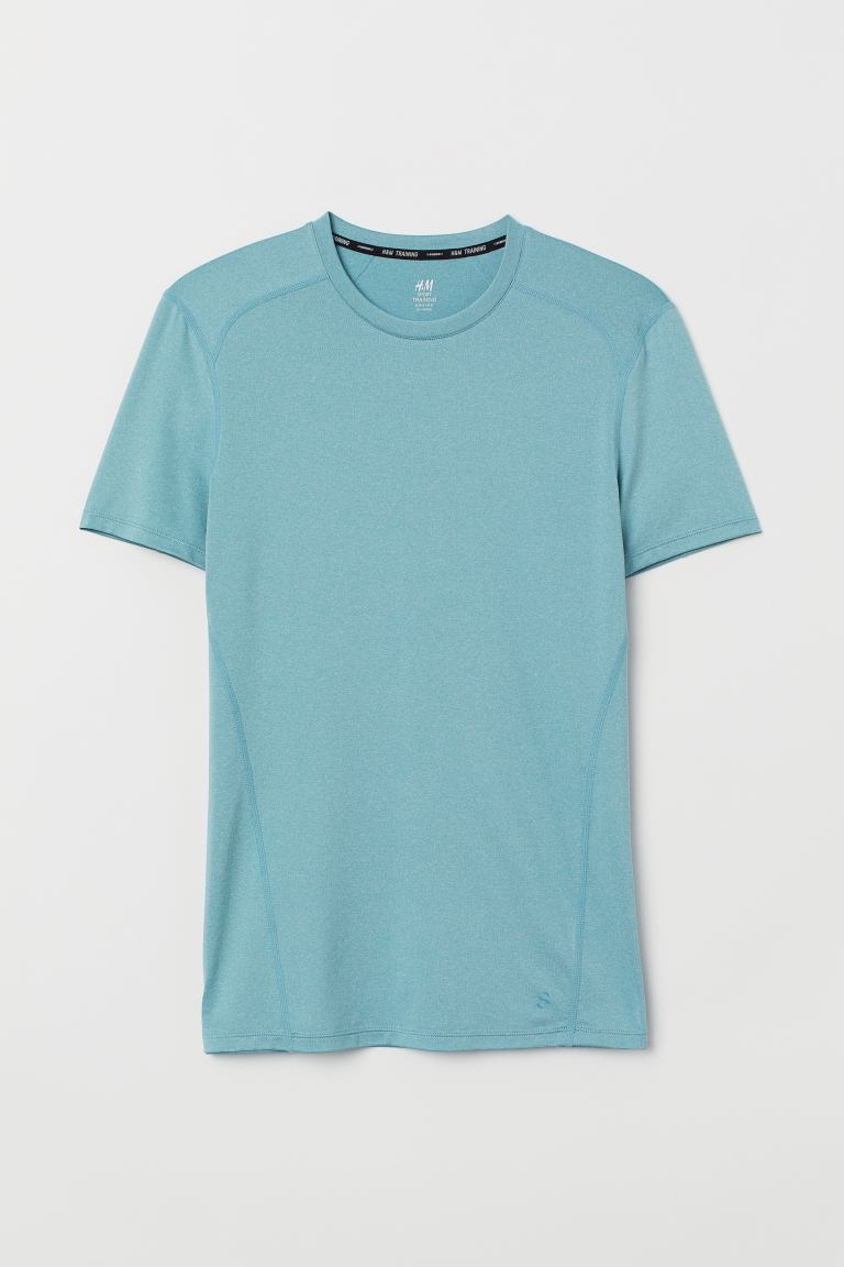 T-shirt training Muscle Fit - Turquoise chiné - HOMME | H&M CH