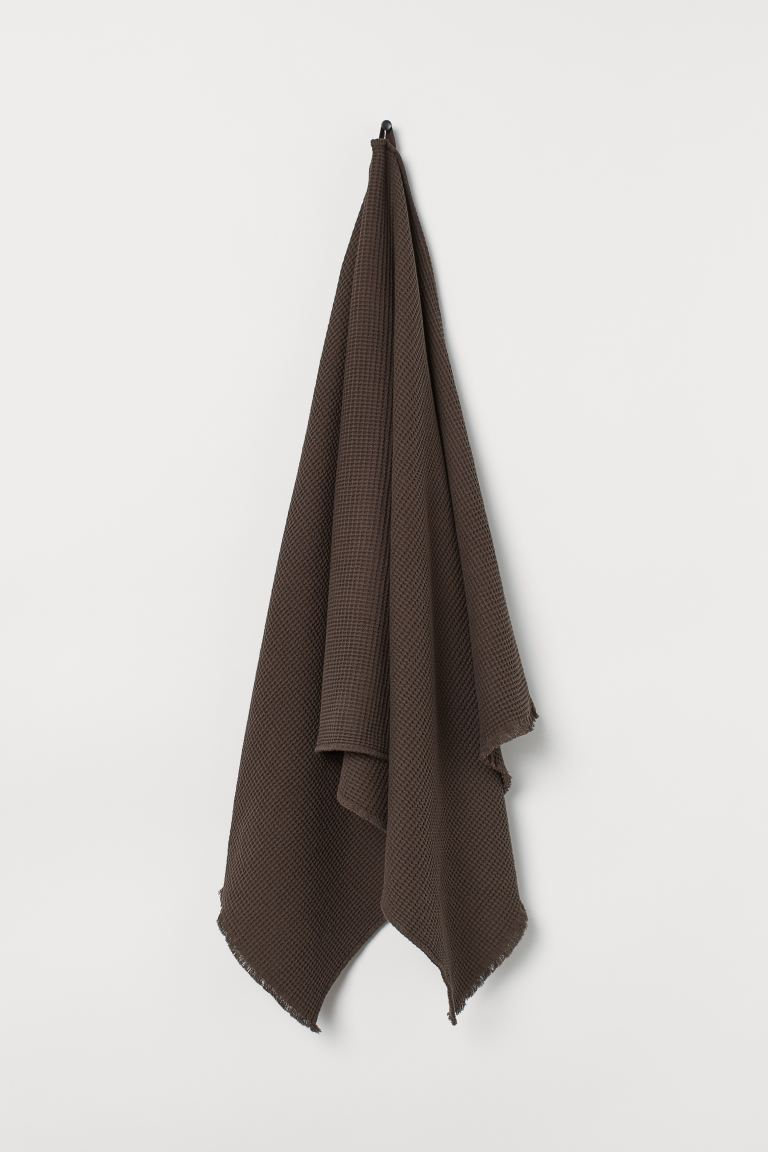Drap de bain gaufré - Marron foncé - Home All | H&M FR