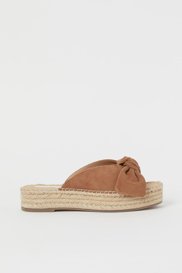 Suede mules - Light brown - Ladies | H&M