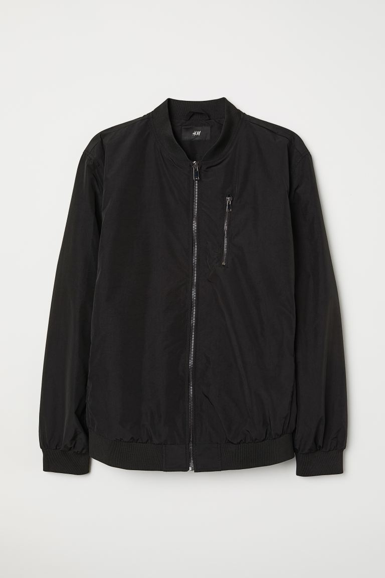 Bomber Jacket - Black - Men | H&M US