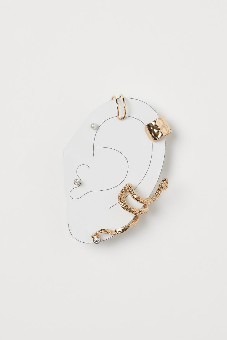 Studs and Ear Cuffs - Gold-colored/snake - Ladies | H&M CA