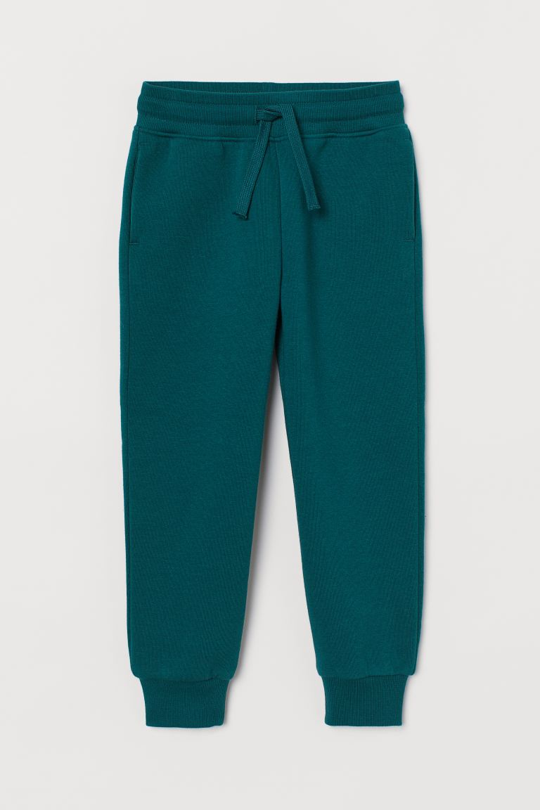 Cotton-blend joggers - Dark green - Kids | H&M