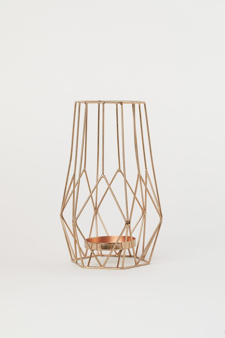 Large pillar candle holder - Copper-coloured - Home All | H&M GB