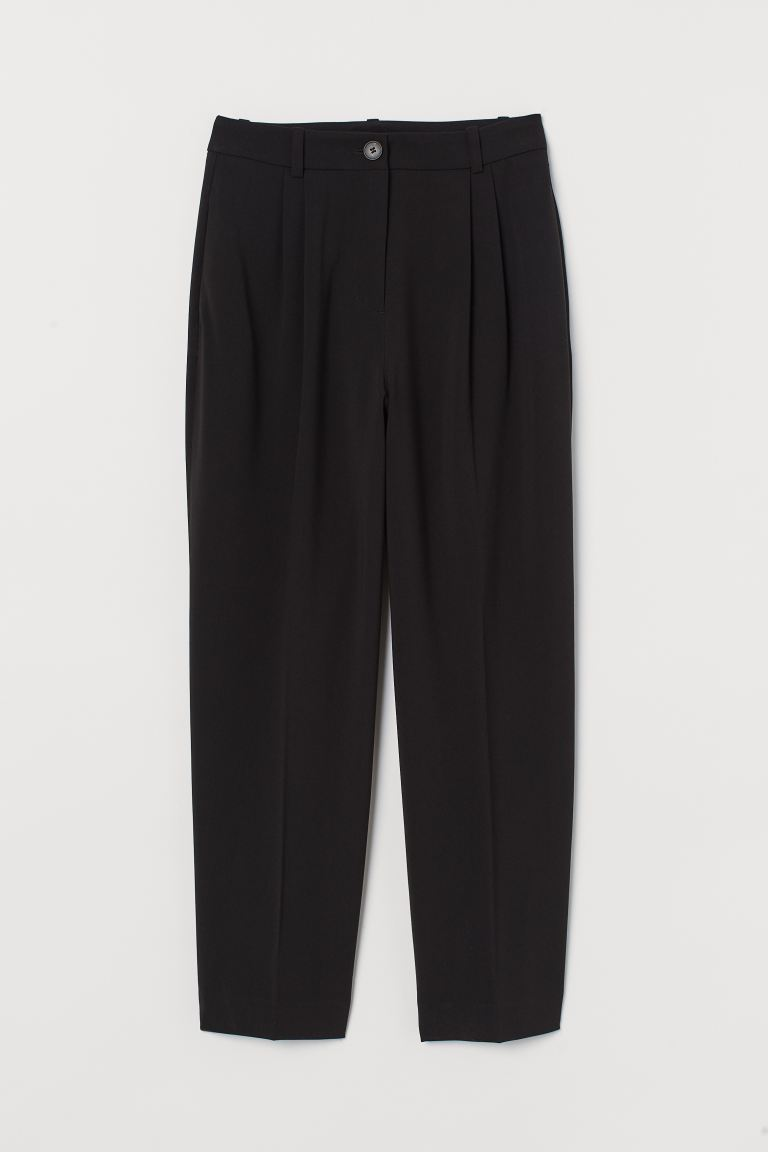 Ankle-length Suit Pants - Black - Ladies | H&M US