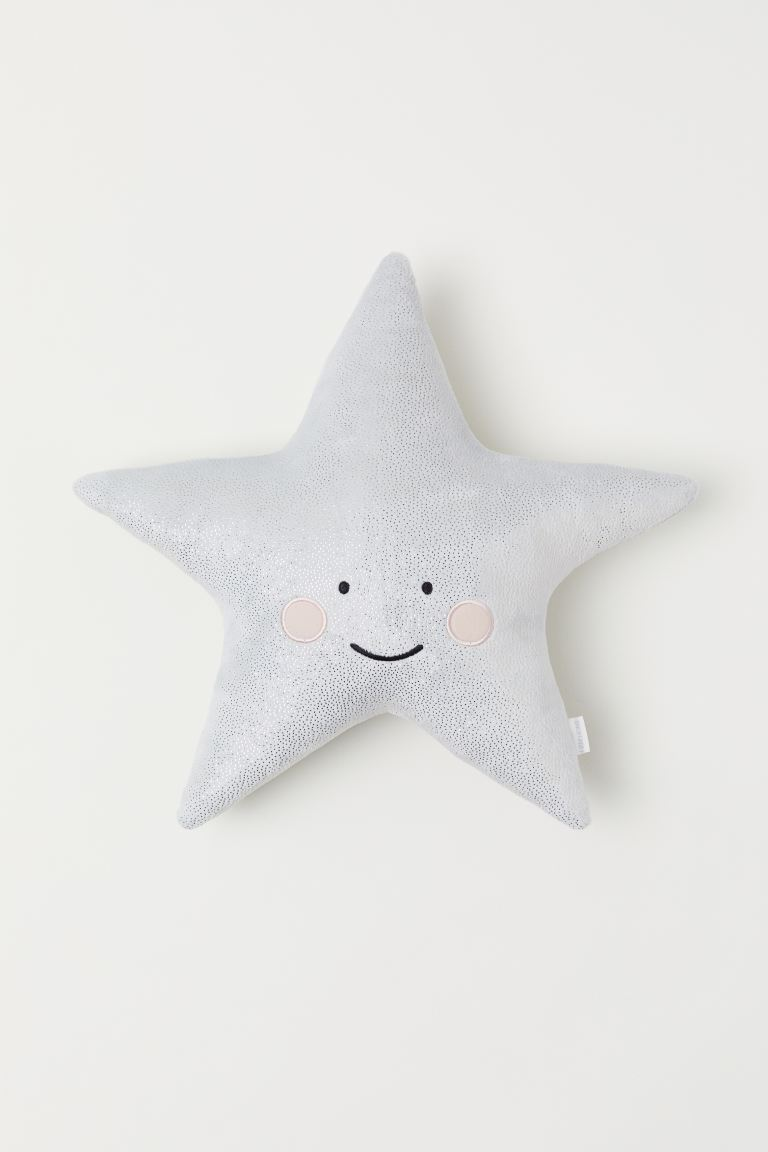 Velour Cushion - Light gray/star - Home All | H&M CA