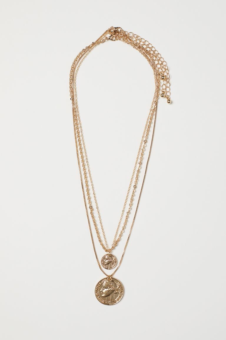 3-pack Necklaces - Gold-colored - Ladies | H&M US