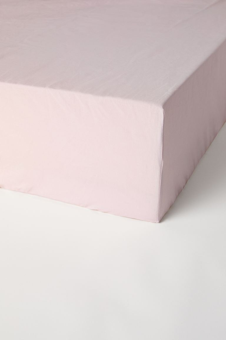 Fitted cotton sheet - Light pink - Home All | H&M GB