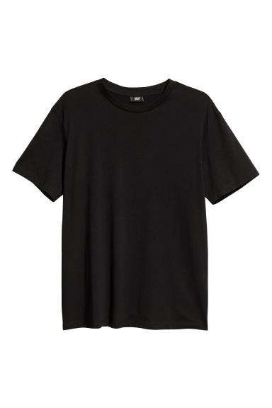 Wide T-shirt - Black/XO - Men | H&M