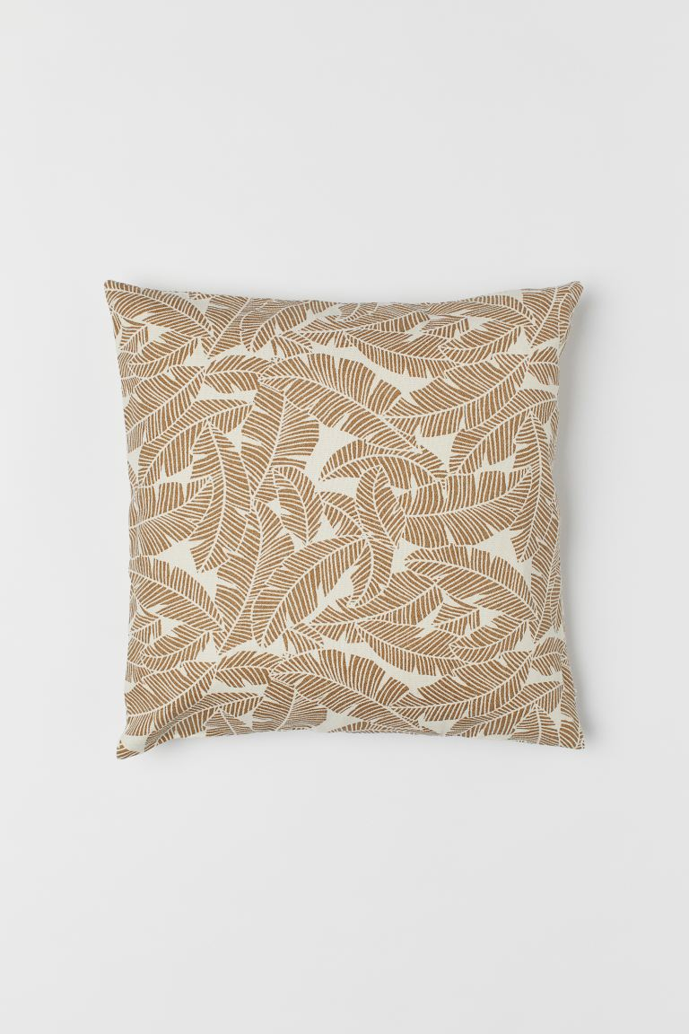 Copricuscino in tela - Beige scuro - HOME | H&M IT