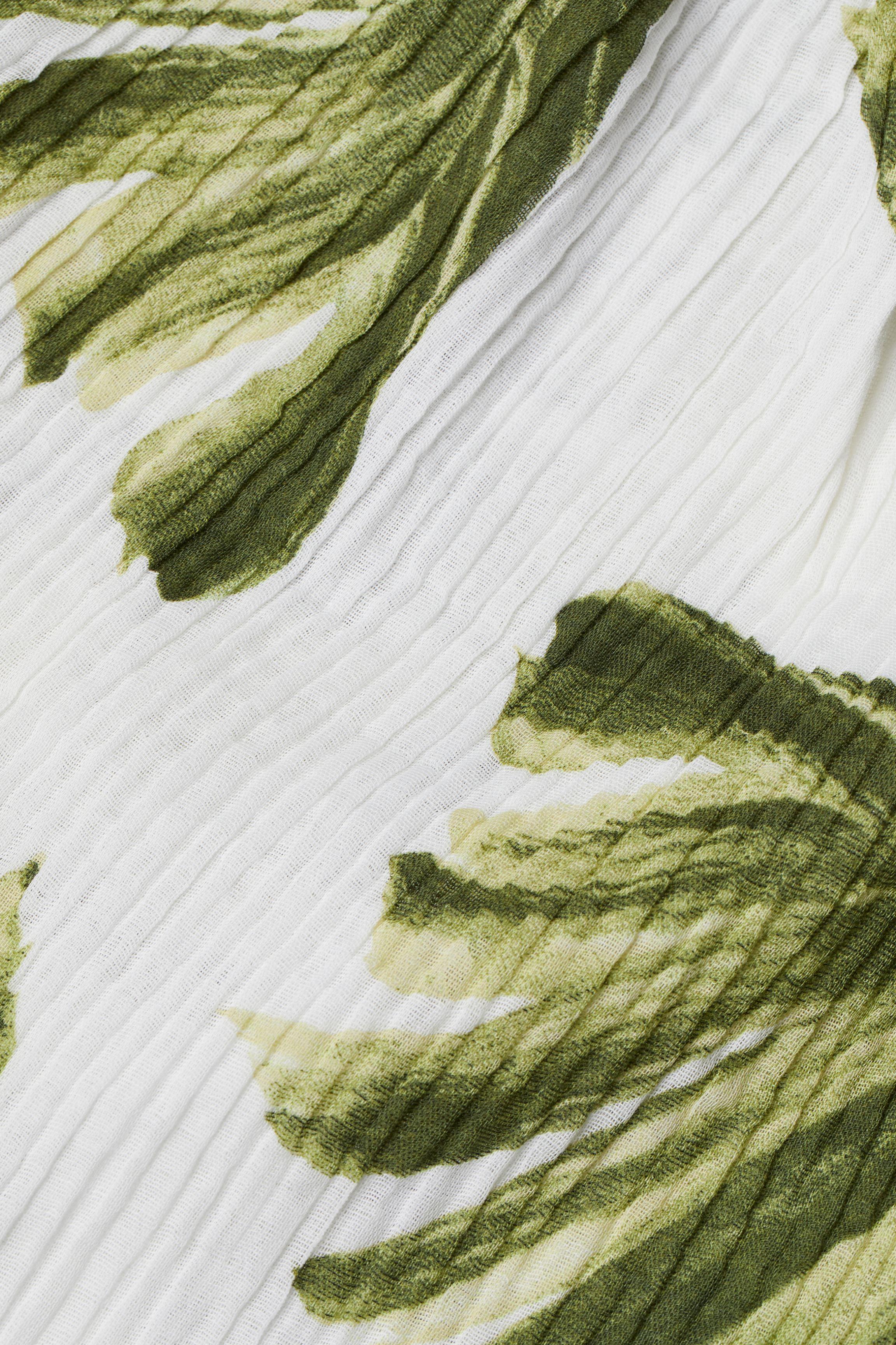 Crinkled Cotton Dress