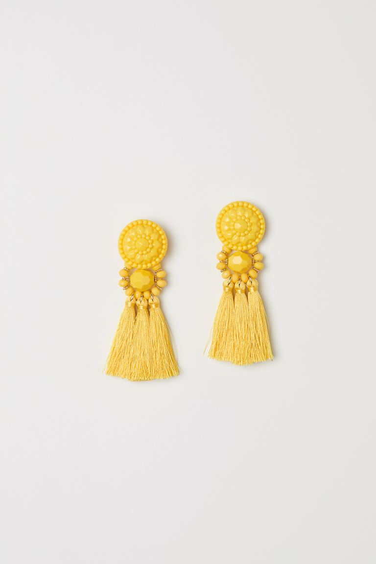 Earrings with Tassels - Yellow - Ladies | H&M CA