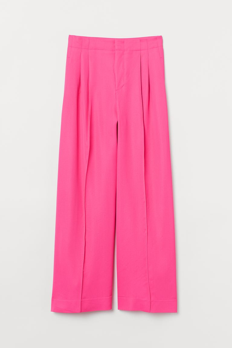 Wide-cut Pants - Cerise - Ladies | H&M US