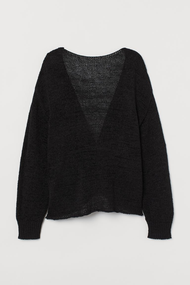 Low Back Sweater - Black - Ladies | H&M AU