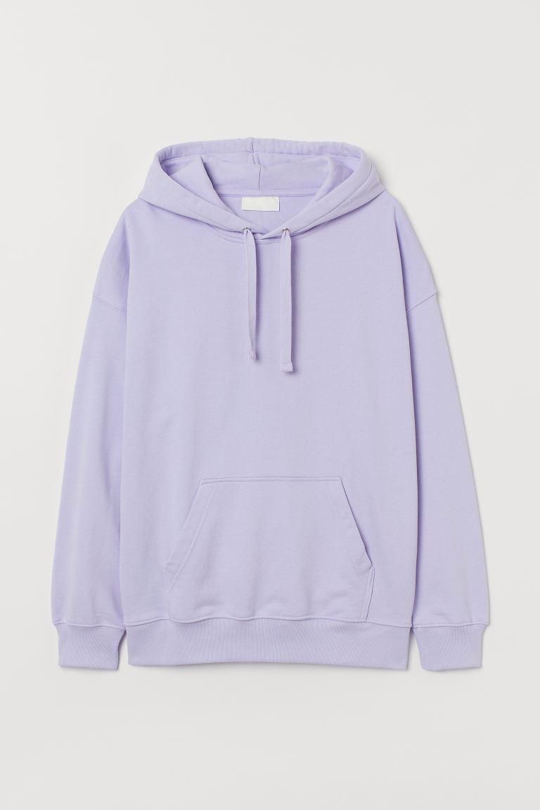 Cotton hoodie - Lilac - Men   H&M 4