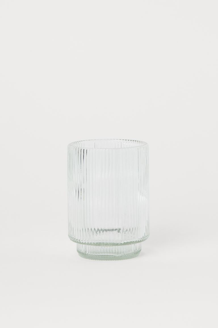 Glass Toothbrush Mug - Clear glass - Home All | H&M CA