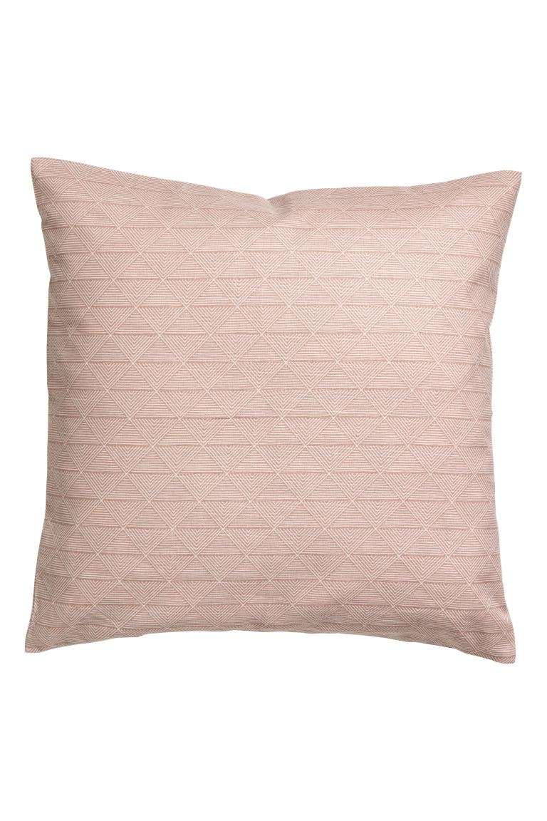 Patterned cushion cover - Old rose - Home All | H&M GB