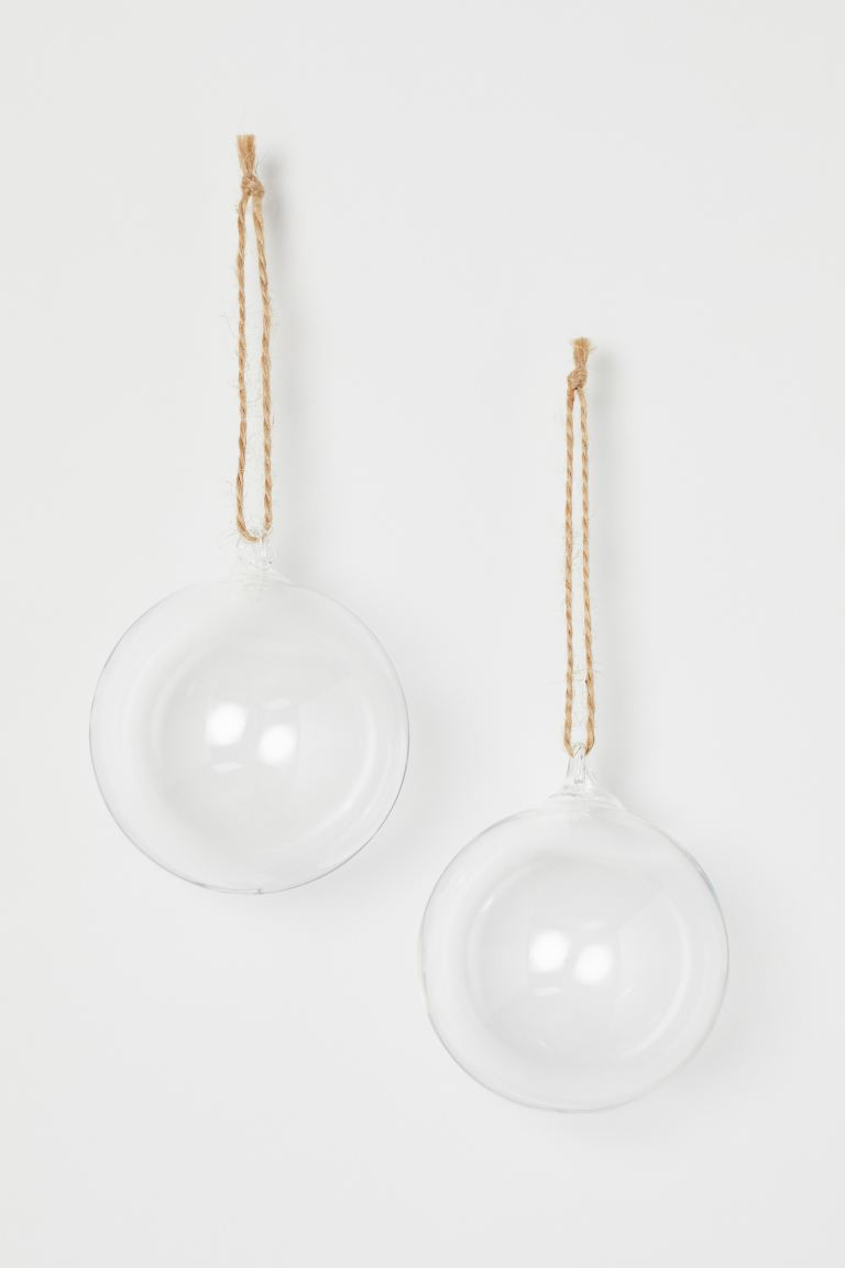 2-pack juldekoration - Transparent - Home All | H&M SE