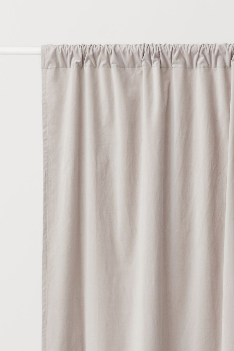 2-pack Velvet Curtain Panels - Light taupe - Home All | H&M US