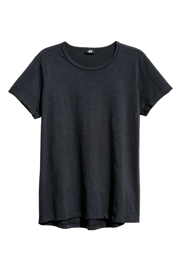 Slub jersey T-shirt - Dark blue - Men | H&M