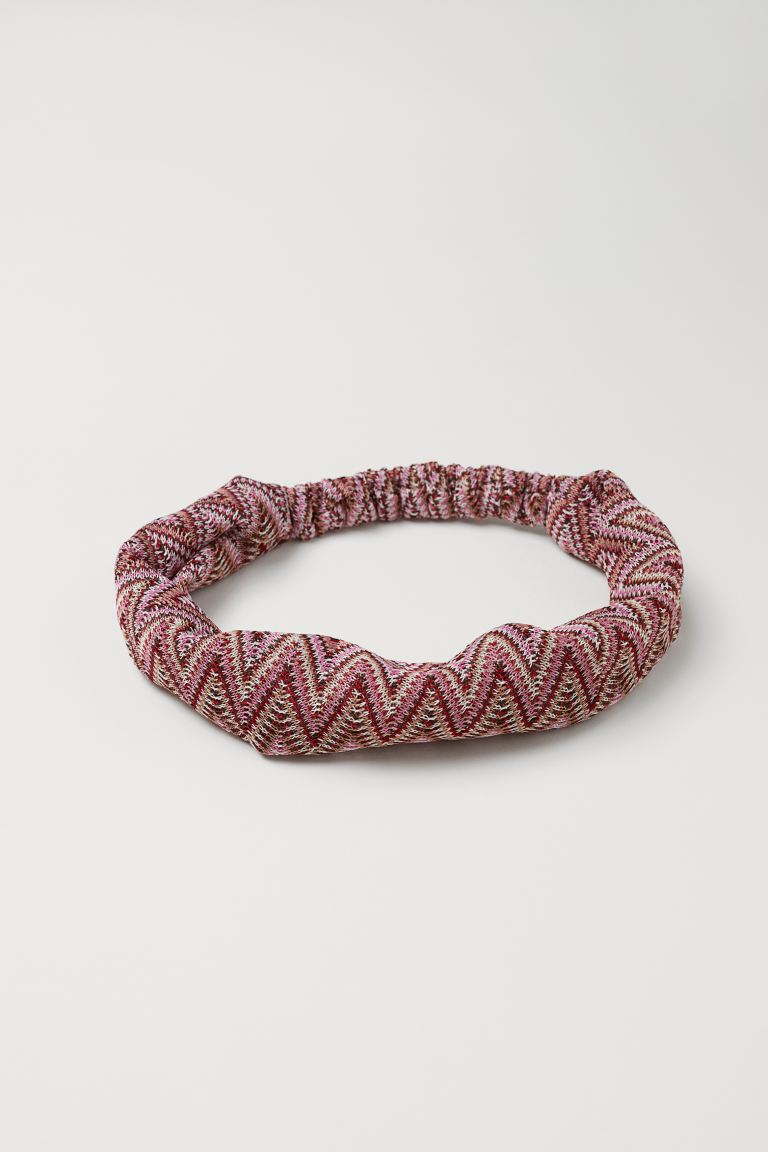 Fine-knit hairband - Pink/Multicoloured - Ladies | H&M GB