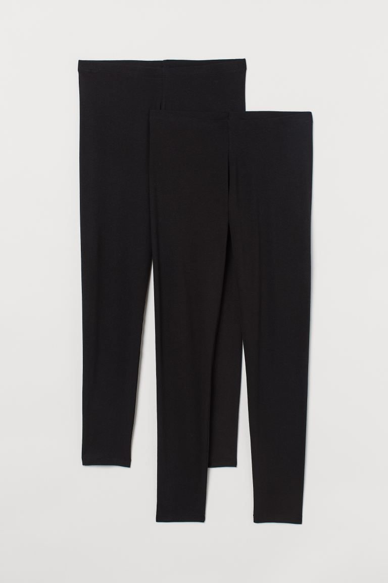 H&M+ 2-pack jersey leggings - Black - Ladies | H&M