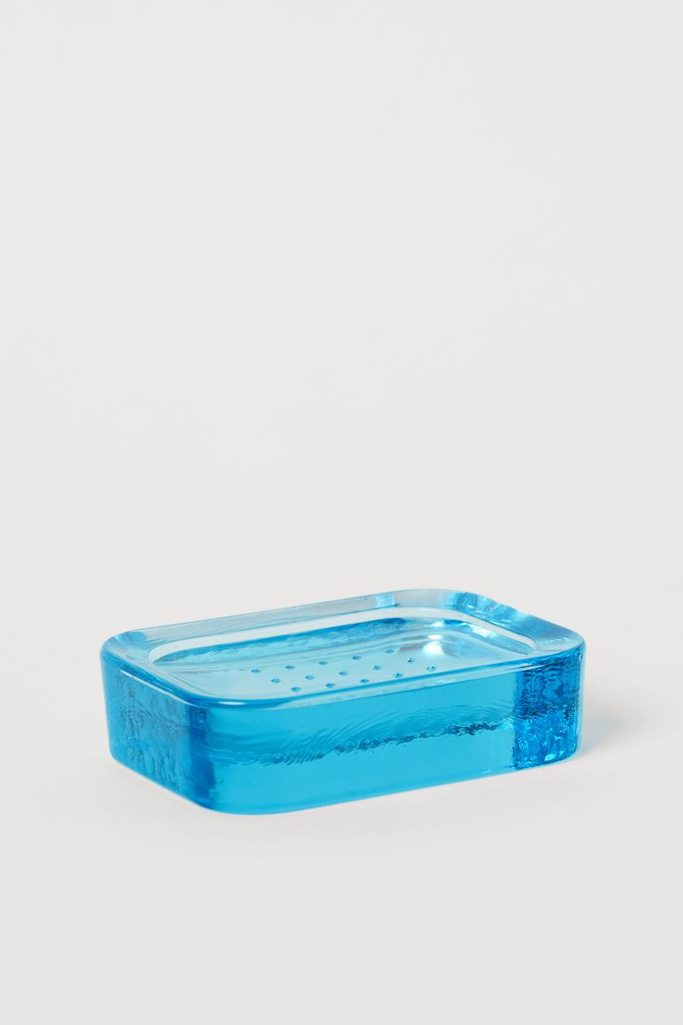 Glass Soap Dish - Turquoise - Home All | H&M US